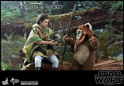Star Wars: Princess Leia and Wicket 1:6 Scale Figure Set
