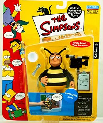 The Simpsons Series 5 Playmates Action Figure Bumblebee Man