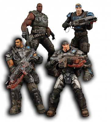 "Gears of War - 7"" Delta Squad Boxed Action Figure Set"