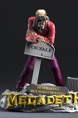"Megadeth Rock Iconz Statue ""Peace Sells\"" Vic Rattlehead 23 cm"