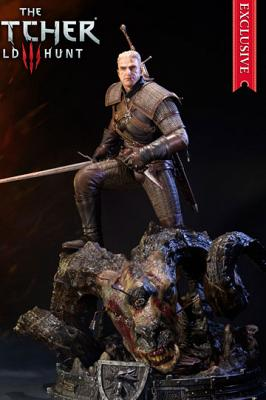 Witcher 3 Wild Hunt Statuen Geralt Exclusive 66 cm