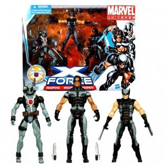 Hasbro Year 2010 Marvel Universe Series 3 SHIELD 3 Pack 4 Inch T