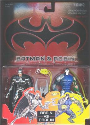 Batman and Robin (Movie) Action Figure 2-Packs Batman (Brain) vs