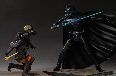 Ralph McQuarrie Luke Skywalker Vs Darth Vader Kotobukiya