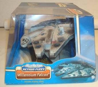 Millenium Falcon Star Wars Micro Machines Action Fleet 2002