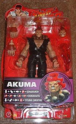 Street Fighter Series 4 Akuma Action Figure red Hair