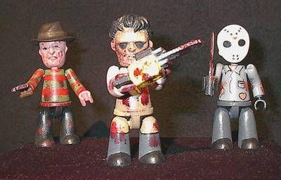 Cinema of Fear 3er Pack - Jason / Freddy / Leatherface mit Zubeh
