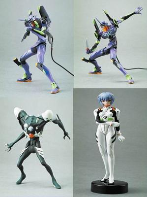 Neon Genesis Evangelion 11cm Mini Actionfiguren 6er Set