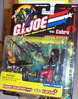 Gi Joe Scarlett vs Zartan