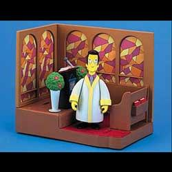 Simpsons Playset First Church mit Reverend Lovejoy