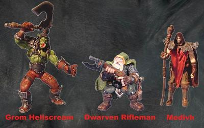 Warcraft III 12cm Mini Figuren Serie 1 3er Set