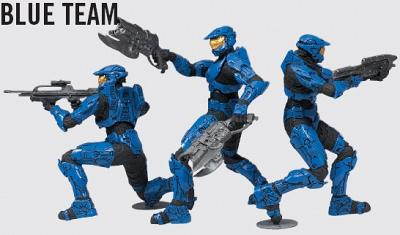 "Halo Heroic Collection 2.5"" Blue Team 3-Pack AF"