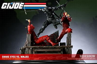 GI Joe Snake Eyes VS Red Ninjas Diorama