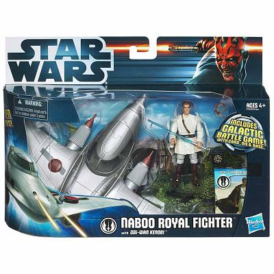 Star Wars Naboo Royal Fighter with Obi-Wan Kenobi