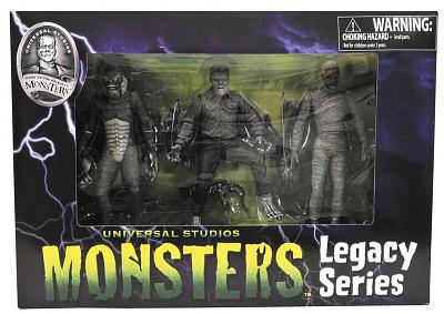 Universal Monsters B&W Figure Set 2