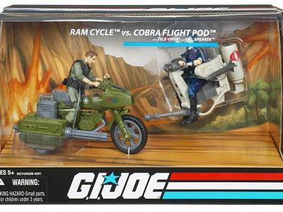 G.I. Joe 25th Anniversary RAM Cycle/Cobra Flight Pod