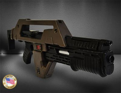 Aliens Replik 1/1 Pulse Rifle Brown Bess Weathered Ver. 68 cm