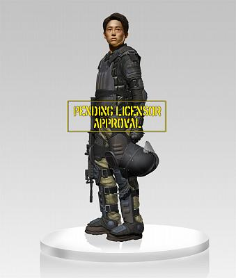 The Walking Dead Statue 1/4 Glenn in Riot Gear 45 cm