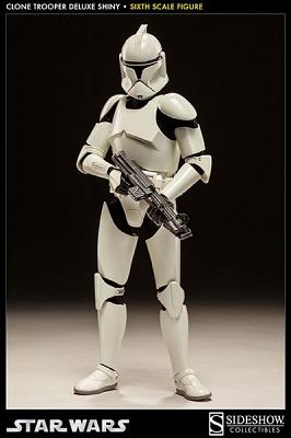Star Wars Deluxe Actionfigur 1/6 Shiny Clone Trooper 32 cm
