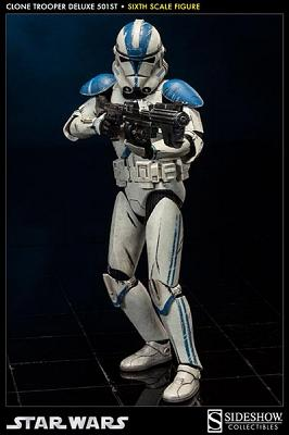 Star Wars Deluxe Actionfigur 1/6 501st Clone Trooper 32 cm