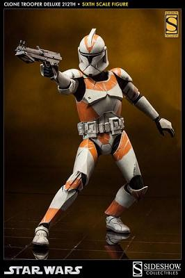 Star Wars Deluxe Actionfigur 1/6 212th Clone Trooper Sideshow Ex