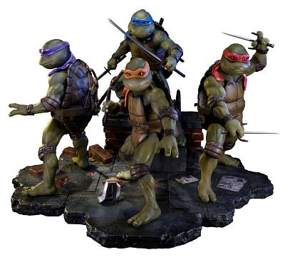 Teenage Mutant Ninja Turtles 1990 Statuen Sideshow Exclusive Set