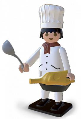 Playmobil Nostalgie Collection Statue Koch 25 cm