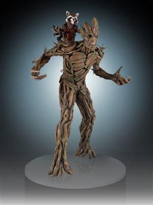 Marvel Guardians of the Galaxy Statue 1/4 Rocket Raccoon & Groot