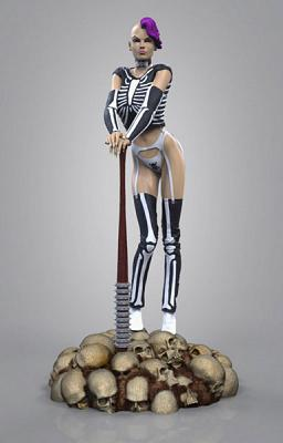 Trick or Treat Hot Chicks Squad Statue 1/4 Skelly 51 cm