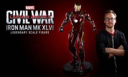 Marvel: Civil War - Iron Man Mark XLVI Legendary scale Statue