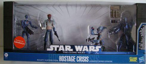 Star Wars Clone Wars Hostage Crisis 4 figure Battle Pack