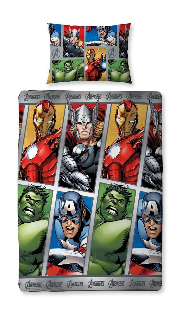 Marvel Avengers Bettwäsche Reversible Team 135 X 200 Cm Heldenshop